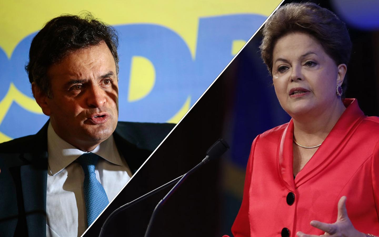 Resultado de imagem para Dilma x Aécio