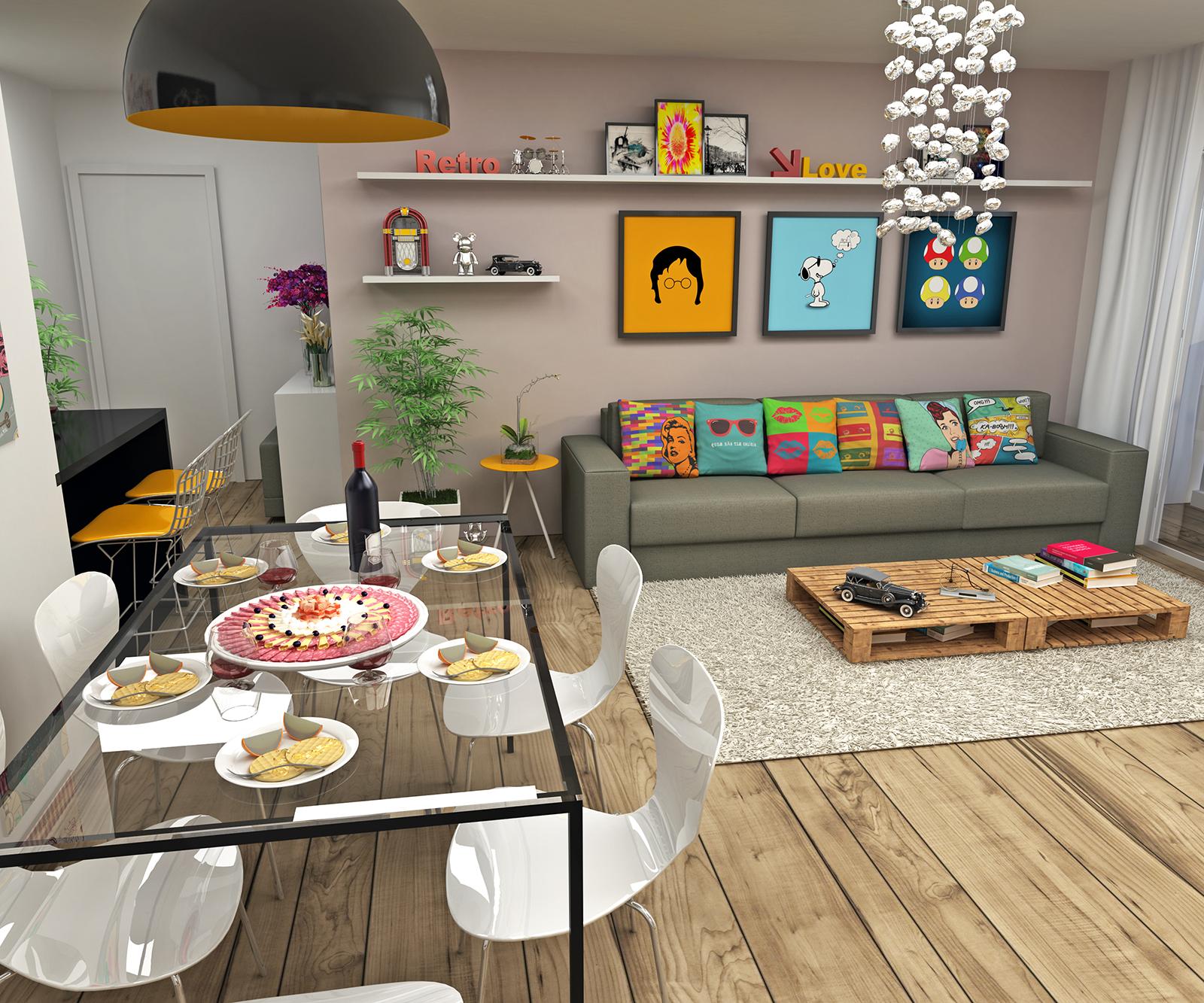Estrat gias para organizar m veis e objetos no ambiente - Centros de mesa modernos para casa ...